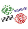 grunge textured expertise stamp seals vector image vector image