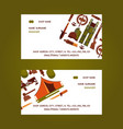 hunting equipment set business cards vector image vector image