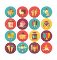 ice cream and frozen desserts and sweets icon vector image vector image