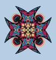 icon with abstract ornament mandala vector image
