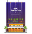 interior background with modern pub bar counter vector image