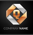 letter q logo symbol in the colorful rhombus on vector image vector image
