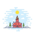 Line Style Christmas Day vector image vector image