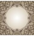Mandala patternOrient ethnic backgroundHenna vector image vector image
