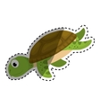 Marine turtle cartoon vector image vector image