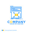 marketing page video web website blue yellow vector image