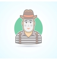 Mime pantomime performer entertainer icon vector image vector image