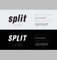 modern abstract split font alphabet numbers
