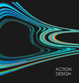 modern wave lines abstract background action vector image vector image