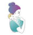 mom and baby mothers day vector image vector image