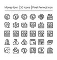 money line icon vector image vector image
