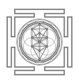 monochrome outline tree life yantra vector image vector image