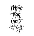 more than meets eye romantic vector image vector image
