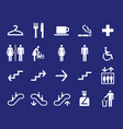 office navigation pictograms vector image vector image