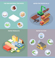 paper production concept icons set vector image vector image