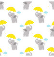 pattern with elephant and umbrella vector image vector image