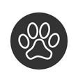 paw symbol vector image