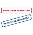 Personal Manager Rubber Stamps vector image vector image