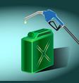 petrol filling canister filling gun vector image