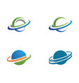 planet globe icon design vector image vector image