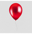 red balloon isolated vector image vector image