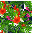 seamless pattern with floral tropical vector image vector image