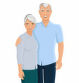 Senior couple portrait vector image