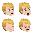 set of cute little boy faces vector image vector image