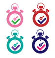 set of stopwatchs icon vector image