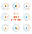 set templates ring from colored lines vector image