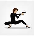Shooting girl image vector image