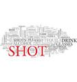 shot word cloud concept vector image vector image