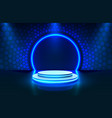 show light stage podium scene with for award vector image vector image