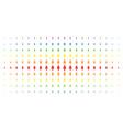 space rocket spectrum halftone grid vector image