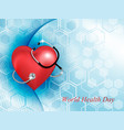 stethoscope medical equipment and the heart shape vector image vector image