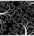 Stylized trees on black background vector image vector image