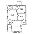 The american floor plans accompanied by a walk-in vector image