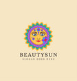 traditional ethnic sun logo vector image