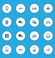 transportation colorful icons set collection of vector image vector image