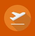 Transportation Flat Icon Departure vector image vector image