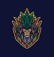 tribe tribal mascot logo vector image
