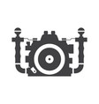 underwater camera icon vector image