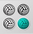 volleyball abstract symbol stickers set vector image vector image