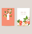 watercolor wedding apple floral invitation autumn vector image vector image