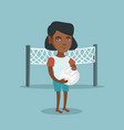 young african-american beach volleyball player vector image vector image