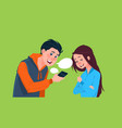 young boy and girl talking holding cell smart vector image