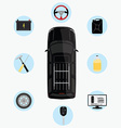 Car service infographics vector image
