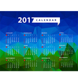 Calendar for 2017 year Week starts from Sunday vector image