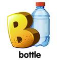 A letter B for bottle vector image vector image