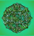 abstract mandala ornament asian pattern green vector image vector image